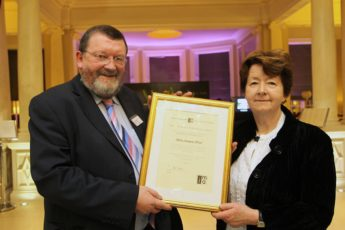 Helen Lanigan Wood receiving Honorary Membership